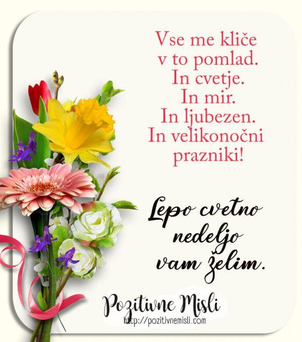 Cvetna nedelja - Vse me kliče v to pomlad