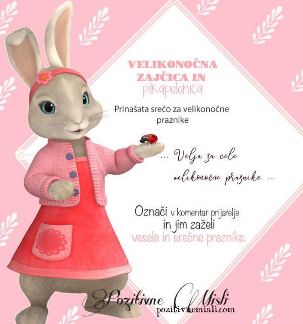 Velikonočni zajc za srečo - Prinaša srečo za veliko noč