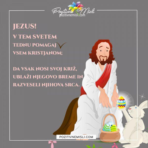 Jezus V tem svetem tednu  -  velika noč