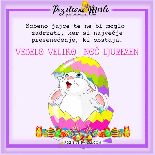 Velika noč - Nobeno jajce te ne bi moglo  zadržati, ker si največje  presenečenje