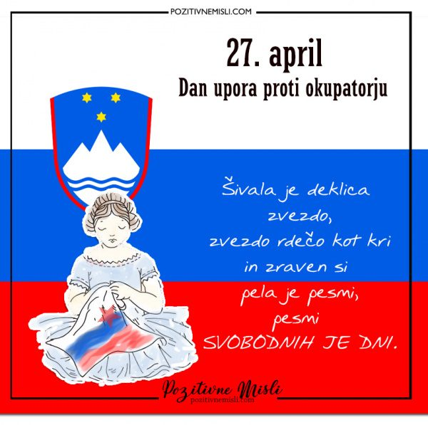 27. april - Dan upora proti okupatorju - Šivala je deklica zvezdo