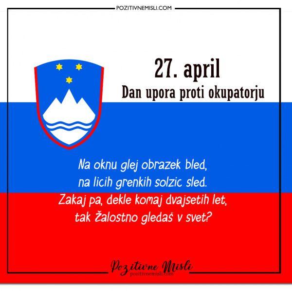 27. april  - Dan upora proti okupatorju - Na oknu glej obrazek bled