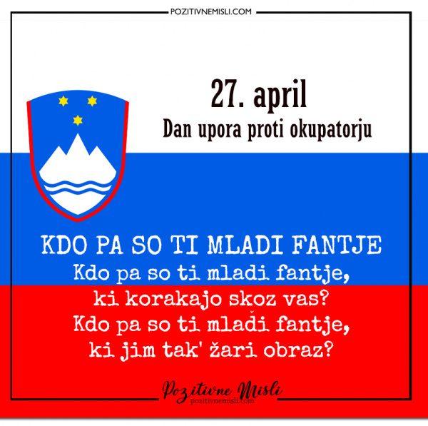 27. april - Dan upora proti okupatorju - Kdo pa ti so mladi fantje