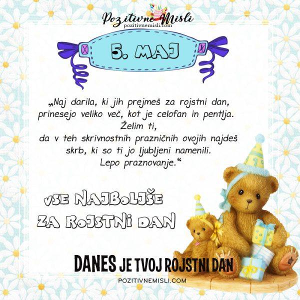 5. maj - voščilo za rojstni dan
