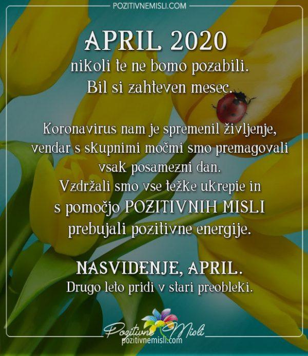 April 2020 - koronavirus