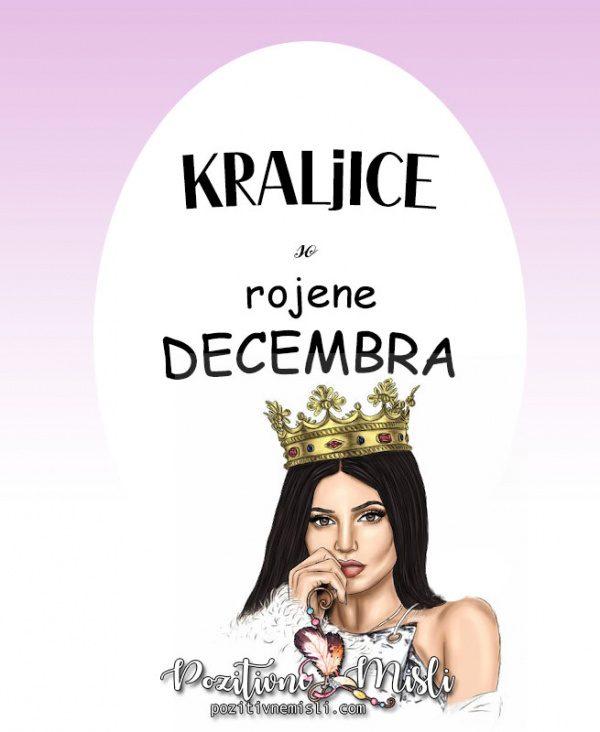 Misli za rojstni dan - kraljice so rojene decembra