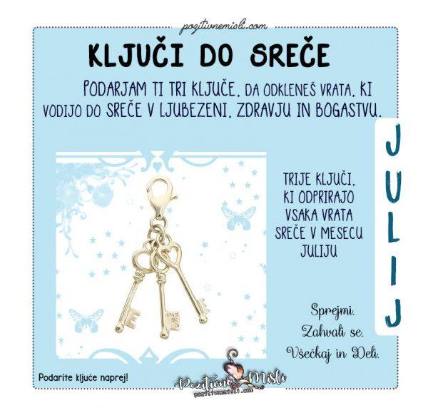 Julij- ključi do sreče