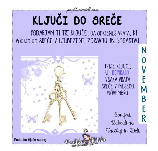November - ključi do srče