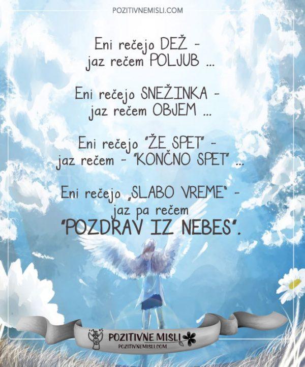 Pozdrav iz nebes - misli  vspomin