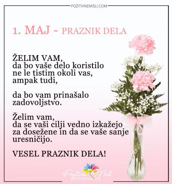 Želim vam, da bi vaše delo koristilo  - Vesel praznik dela 1. maj