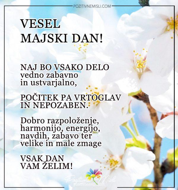 Prvi maj - Vesel majski dan Čestitke za 1. maj