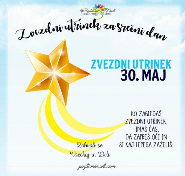 30. maj - 365 srečnih dni - zvezdni utrinek za srečo