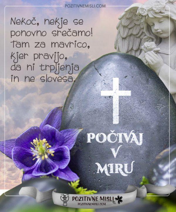 Počivaj v miru - Misli v slovo