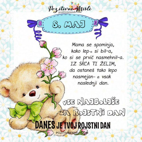 8. maj - voščilo za rojstni dan