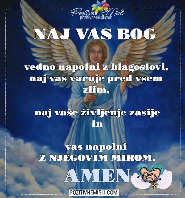 Molitev za blagoslove in mir
