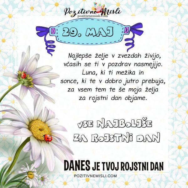 29. maj - voščilo za rojstni dan