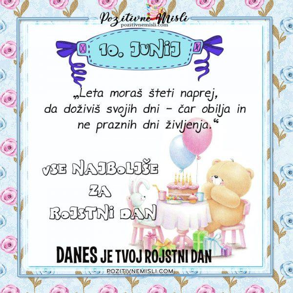 10. junij - voščilo za rojstni dan - vse najboljše