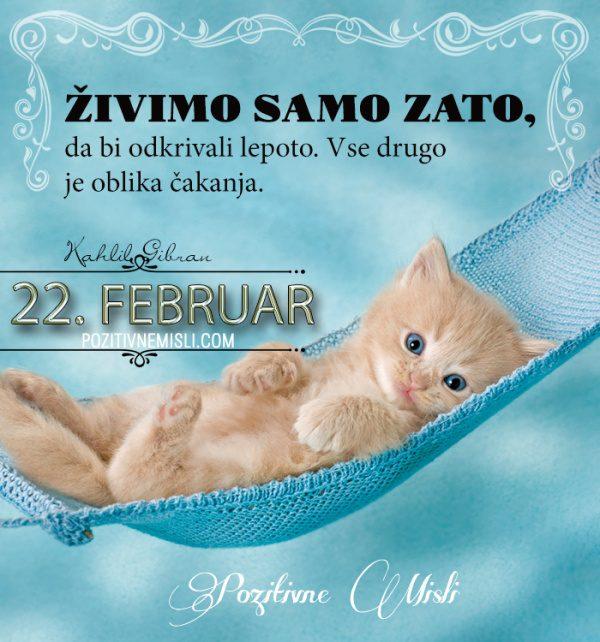 22. februar - 365 misli koledar lepih misli o življenju