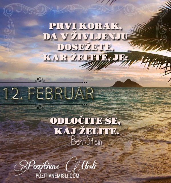 12. februar - 365 misli koledar lepih misli o življenju