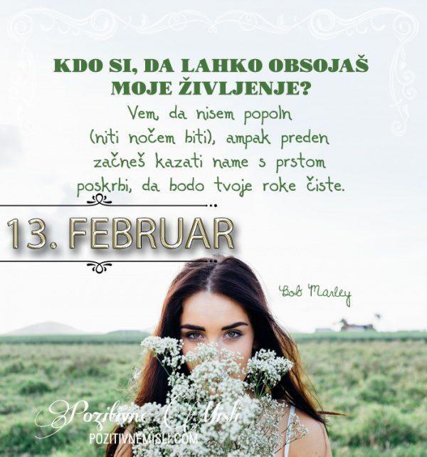 13. februar - 365 misli koledar lepih misli o življenju