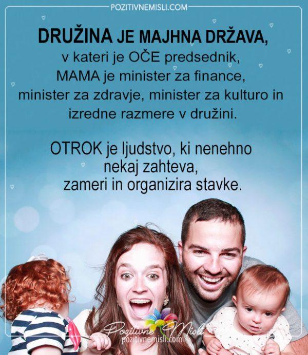 Družina je majhna država - najlepše msili o družini