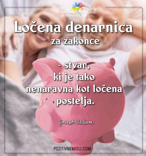 Ločena denarnica za zakonce  -  misli o zakonu in denarju
