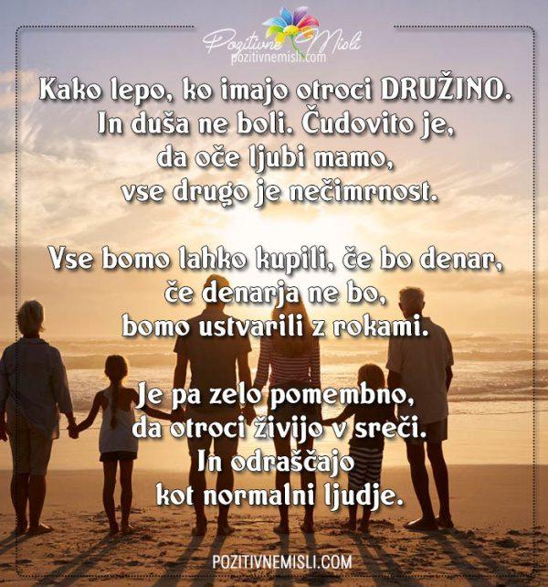 Kako lepo, ko imajo otroci družino - Najlepše msili o družini in otrocih
