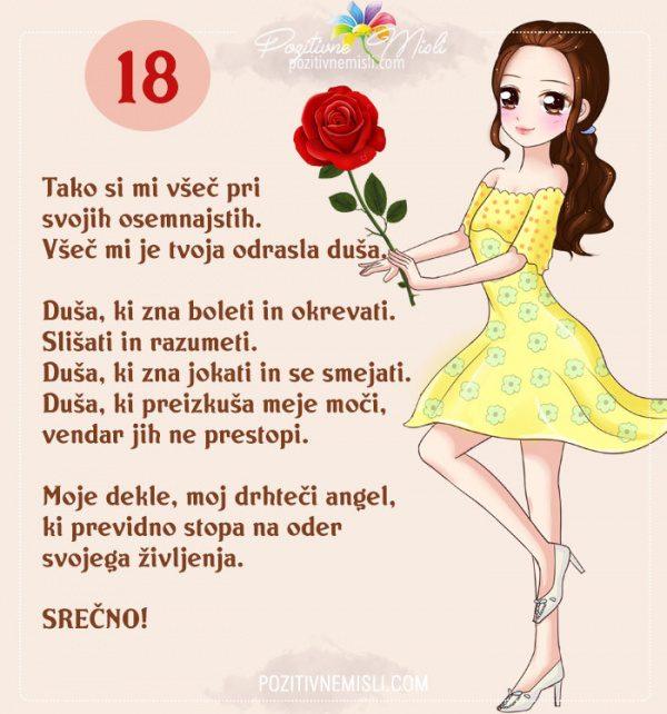 18 let - hčerki za 18. rojstni dan