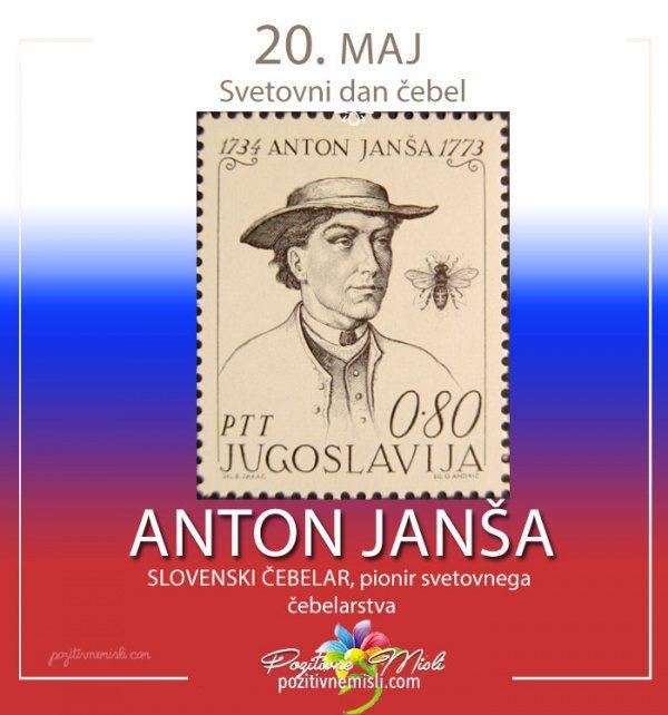 20. maj svetovni dan čebel - Anton Janša