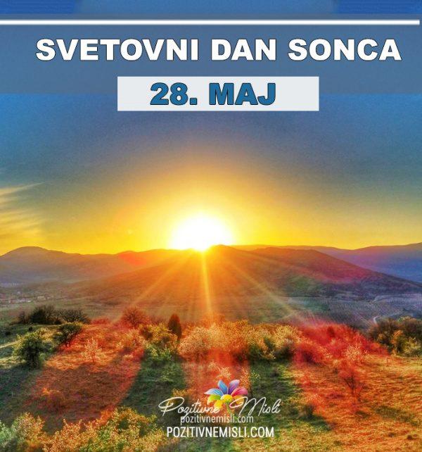 28. maj - svetovni dan sonca