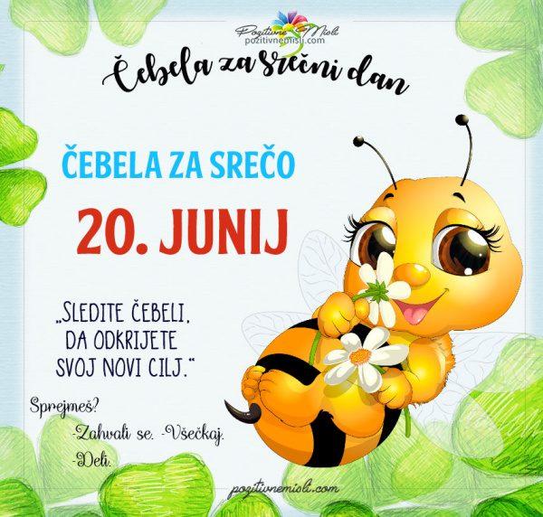 20. junij  365 srečnih dni - čebela za srečo