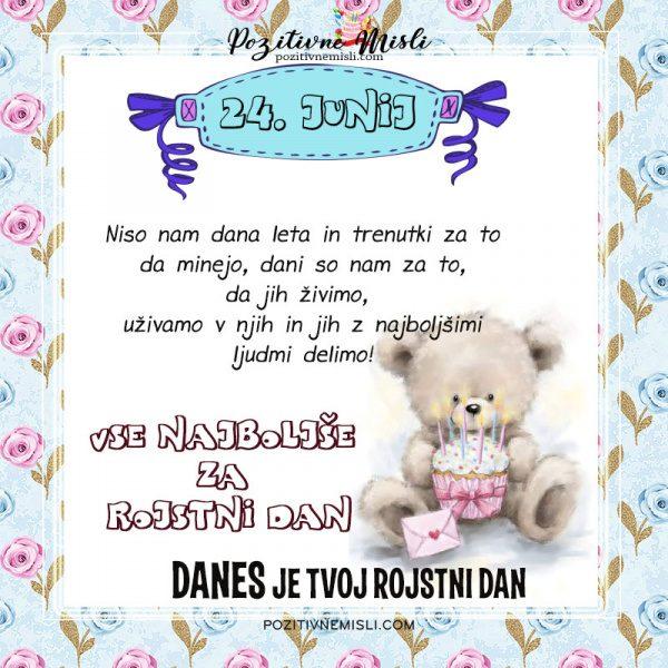 24. junij - voščilo za rojstni dan - vse najboljše