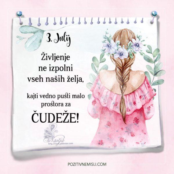 3. julij - Misli o čudežih