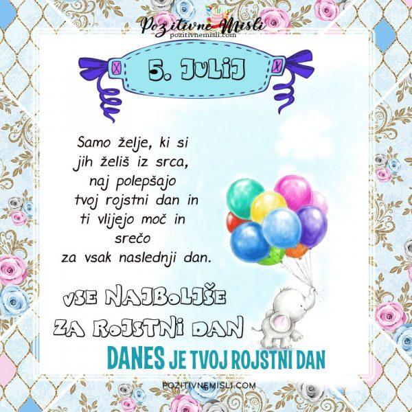5. julij - voščilo za rojstni dan