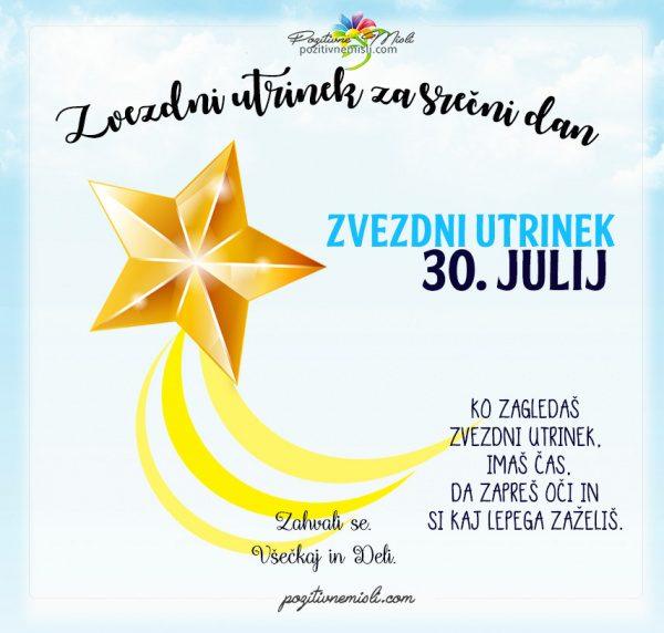 30. julij - 365 srečnih dni - zvezdni utrinek za srečo