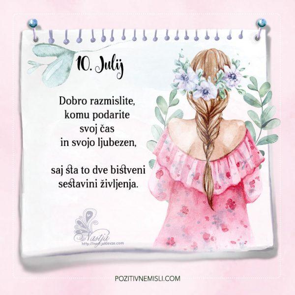10. julij - Pozitivčica - 365 misli za vsak dan