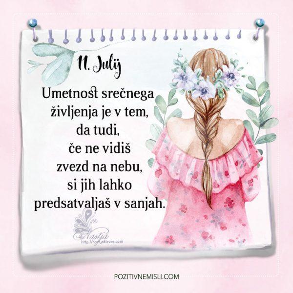 11. julij - Pozitivčice - misel dneva