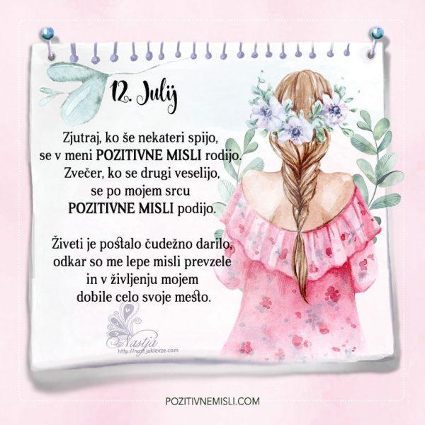 12. julij - Pozitivčice - Misel dneva