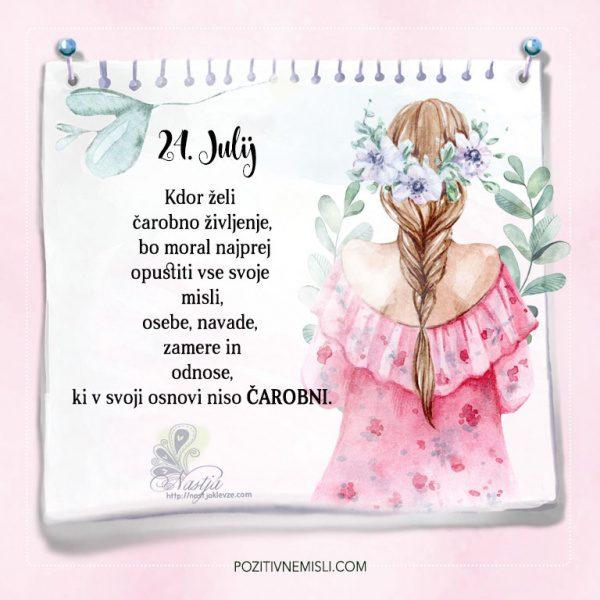 24. julij  - Pozitivčice - Misel dneva