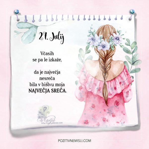 27. julij - Pozitivčice - Misel dneva