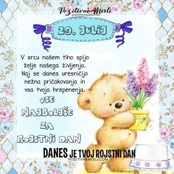 29. julij - voščilo za rojstni dan - Pozitivčice
