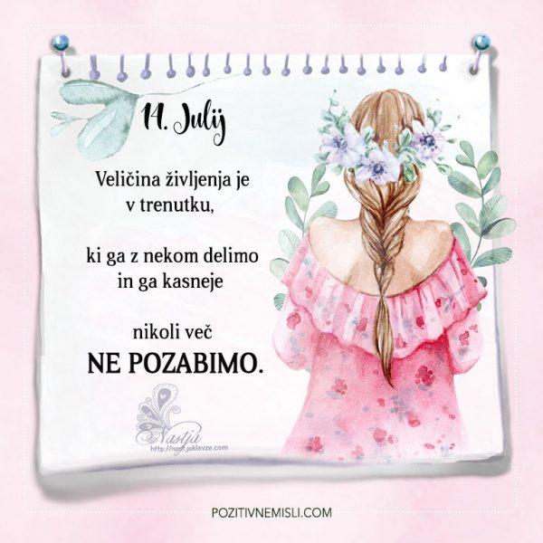 14. julij - Pozitivčice - Misel dneva