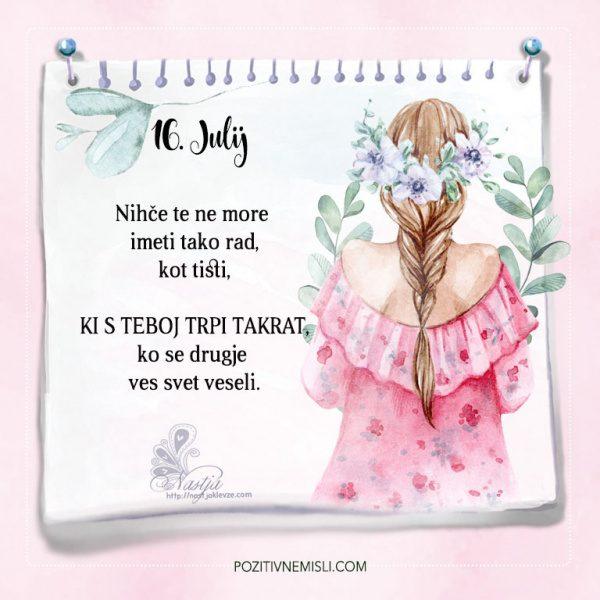16. julij - Nastja Klevže misel dneva - Pozitivčice