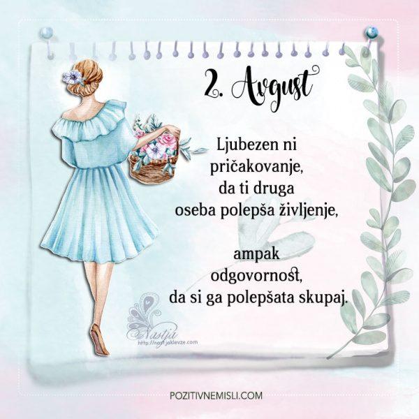 2. avgust - Pozitivčice - Misel dneva - Nastja Klevže