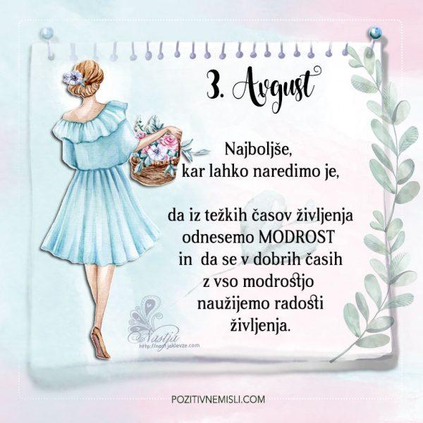 3. avgust - Pozitivčice - Misel dneva - Nastja Klevže