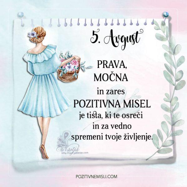 5. avgust - Pozitivčice - Misel dneva - Nastja Klevže