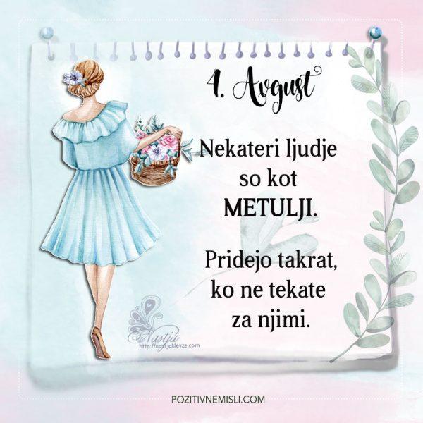 4. avgust - Pozitivčice - Misel dneva - Nastja Klevže