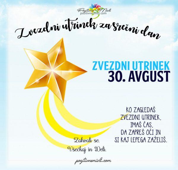 30. avgust - 365 srečnih dni - zvezdni utrinek za srečo