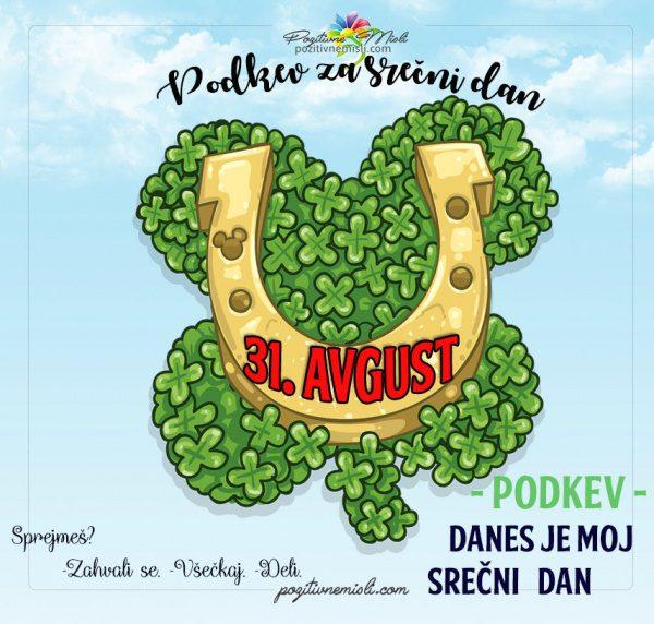 31. avgust - 365 srečnih dni - podkev in deteljica