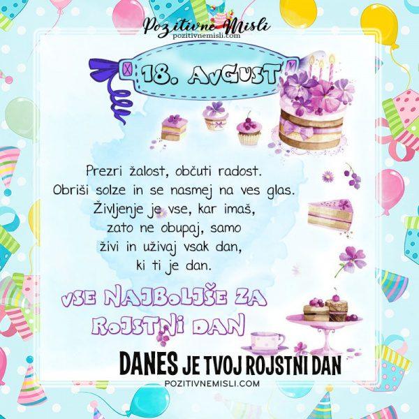 18. avgust - voščilo za rojstni dan - Pozitivčice